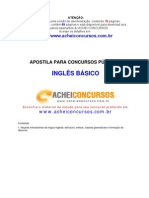 Apostila de Inglês Básico para Concursos