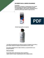 Materiales Quimicos Para La Limpieza de Hardware