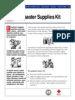Fema Family Disaster Supplies Kit Publication