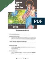 Programa de actos Los Piquetes | Octubre 2012