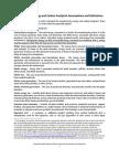 Footprints Assumptions Definitions 2012