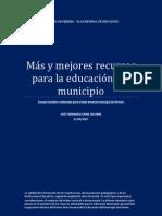 Más y mejores recursos para la educación del municipio de Pereira