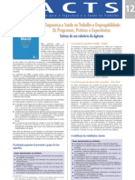12 - A Seguranca e Saude No Trabalho e Empregabilidade- Os Programas- Praticas e Experiencias