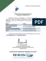 Extensión Plazo Postulación FENEECh 2012