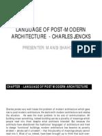 Language of Post-modern Architecture - Charles Jencks