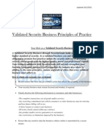 Validated Security Business Principles/ Statutes