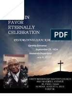 Pastor O. I. Kirk, Sr D.D LIFE Celebration Book