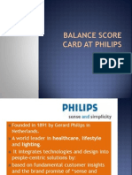 Balance Score Card at Philips