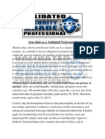 Validated Security Professional Statutes