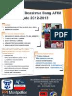 Poster Beasiswa Belajar Bersama Bang Afim 2013
