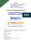 Apostila de 330 Questões Comentadas de Língua Portuguesa do Cespe/UnB