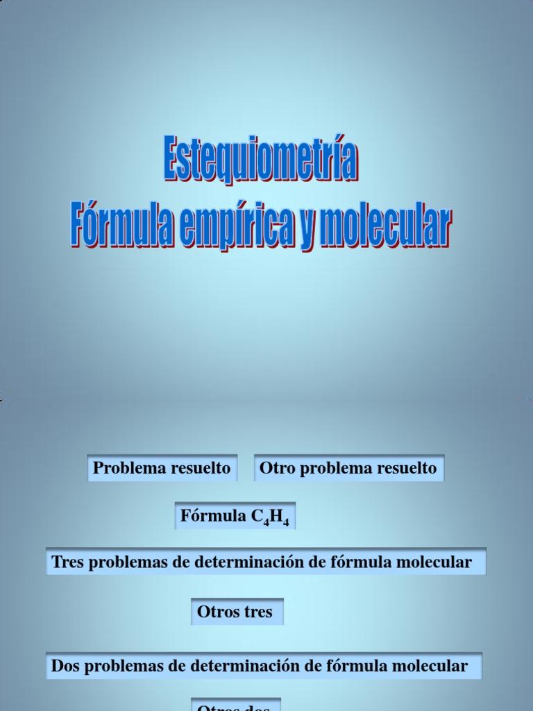 Problemas F Empirica Molecular