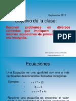 Ecuaciones 1er GRADO 6º AÑO