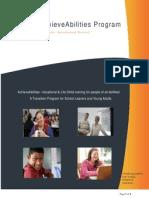 AchieveAbilities Program Brochure -Email