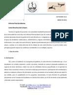 AEEM 150-2012 Informe de Labores Final- Comunidad Estudiantil Medicina