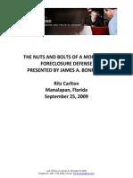 Bonfiglio Forclosure Defense-9!25!09