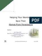 Helping Members Avoid Foreclosure - John Rigg