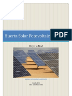 Proyecto Huerta Solar Fotovoltaica 100kw
