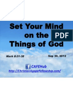 Set Your Mind on the Things of God