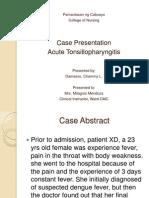 Acute Tonsillopharyngitis