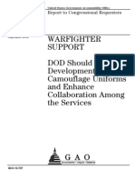 GAO Report on Camo and Combat Uniforms