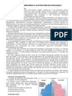CAP 28 - OS FLUXOS MIGRATÓRIOS E A ESTRUTURA DA POPULAÇÃO I