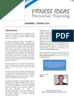 Fitness Ideas Newsletter - 1 October 2012