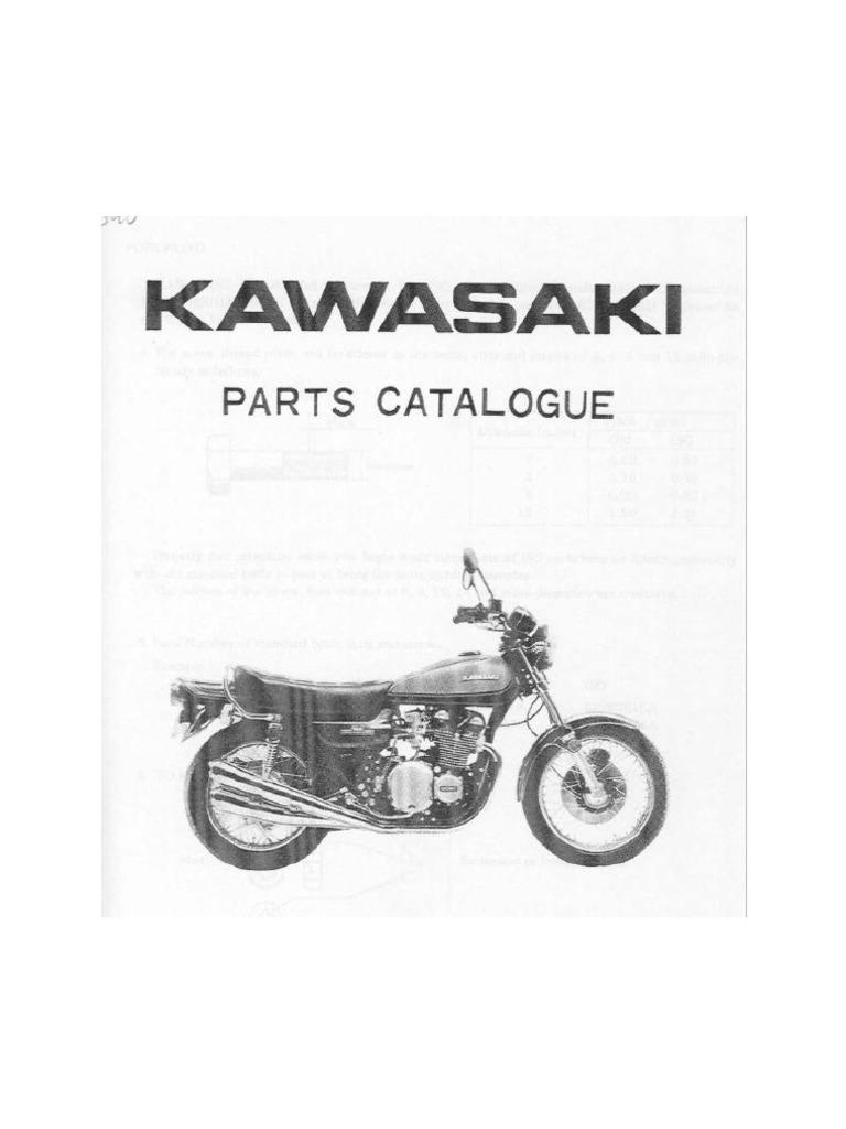 Kawasaki Z1 900 Parts List
