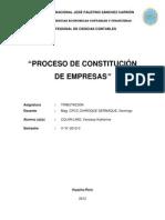 Constituciond e Empresas