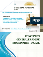 Actos procesales_Derecho Procesal Civil_Bolivia