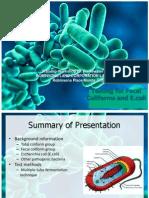 Coliform Analysis in Wastewater 2012