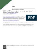 Stiglitz - Equilibrium in Markets With Imperfect Information