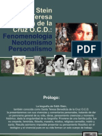 Edith Stein, fenomenología, neotomismo y personalismo