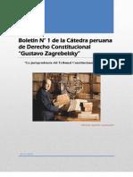 Boletín N° 1 de la Cátedra Peruana de Derecho Constitucional.