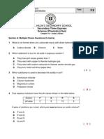 Sec 3Exp Quiz I - Chapter 10