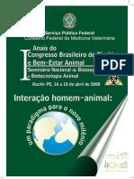 Anais Do I Congresso de Bioetica e Bem-Estar Animal