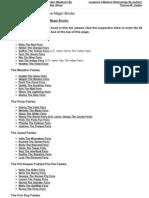 Complete List of Rainbow Magic Books