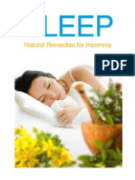 Sleep - Natural Remedies for Insomnia