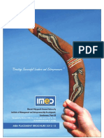 Bharati Vidyapeeth University IMED Placement Brochure MBA