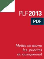 Projet Loi Finances 2013 Plf Missions