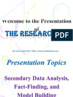 Presentation on Secendary Data Analysis