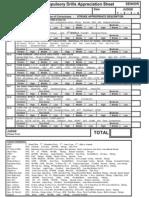 4 Senior Technical Drill Appreciation Sheets