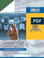 Bharati Vidyapeeth University IMED Placement Brochure MCA