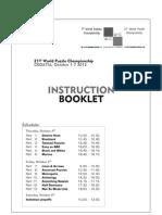 Instrucţiunile la Campionatul Mondial de Rebus Logic 2012, Croaţia
