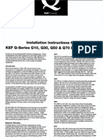 KEF - Q10 Q30 Q50 Q70 Installation Instructions