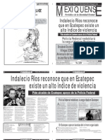 Versión impresa del periódico El mexiquense 1 de octubre 2012