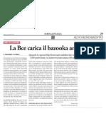 La Bce carica il bazooka anti-Spread (Borsa & Finanza, 29/09/12)