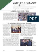 L´OSSERVATORE ROMANO. 30 Septiembre 2012