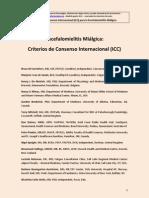 Criterios Internacionales para el diagnóstico de la EM/SFC Julio 2011