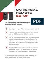 Vizio Universal Remote Codes